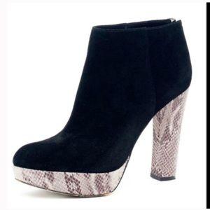 Michael Kors Snakeskin Lesly ankle booties